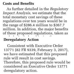 Deregulatory Action