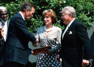 Pres. Bush with Clerys